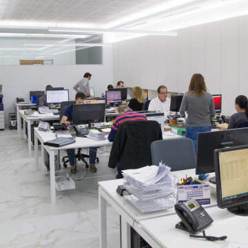 Sala de trabajo Gestoría Crespo