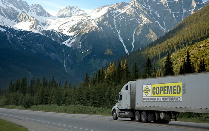 Camión Cooperativa del Mediterráneo COPEMED