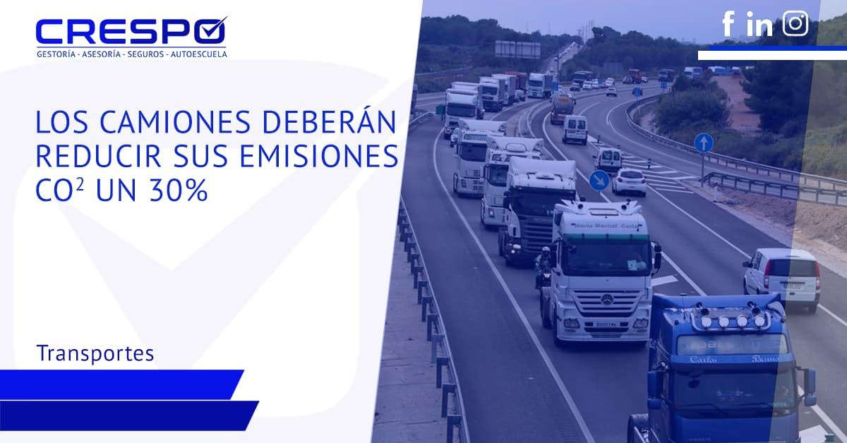 Los camiones deben reducir sus emisiones de CO2 un 30%