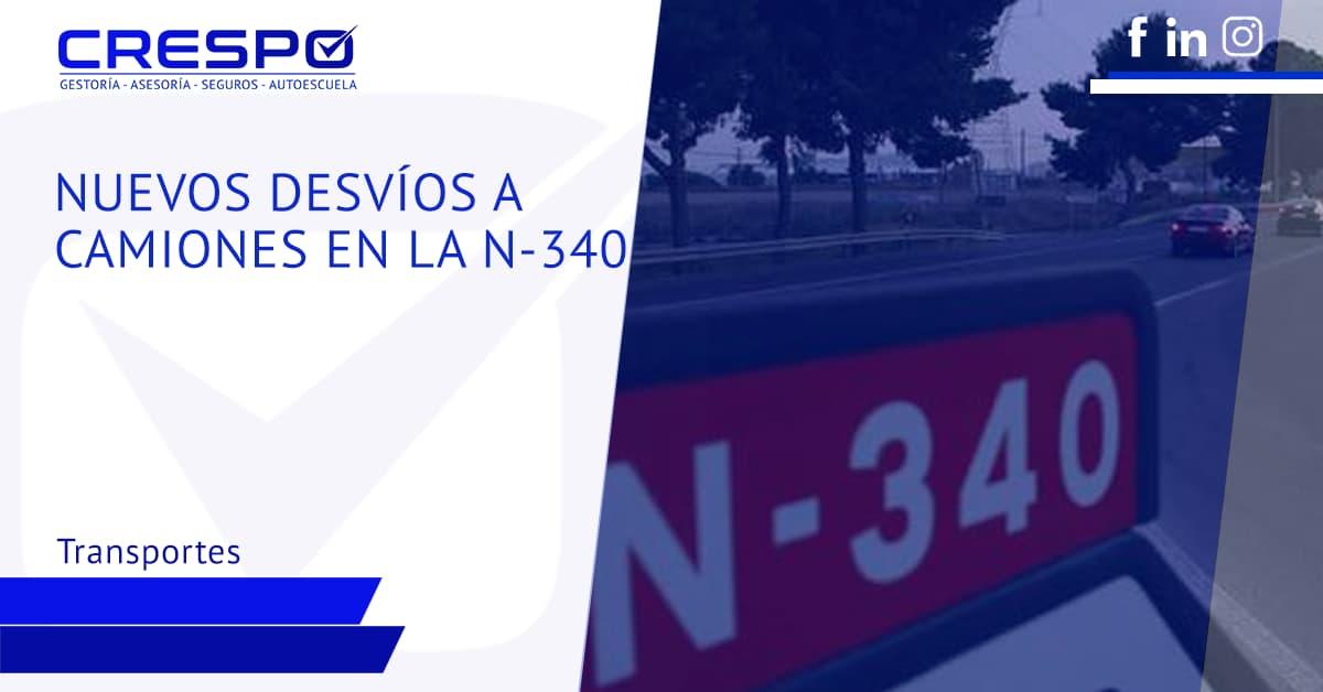 Nuevos desvíos a camiones en la N-340 a AP-7