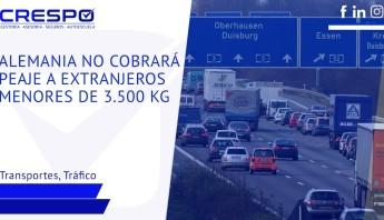 Alemania no cobrará peaje a vehículos extranjeros con menos de 3'5 toneladas