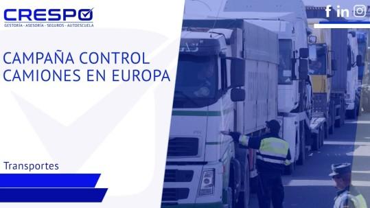 Campaña control de camiones en Europa