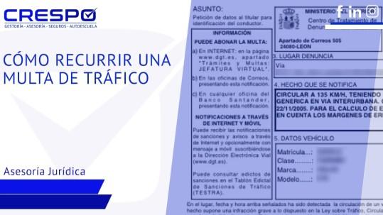 Cómo recurrir una multa de Tráfico