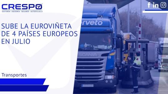 Sube la Euroviñeta en 4 países europeas en julio