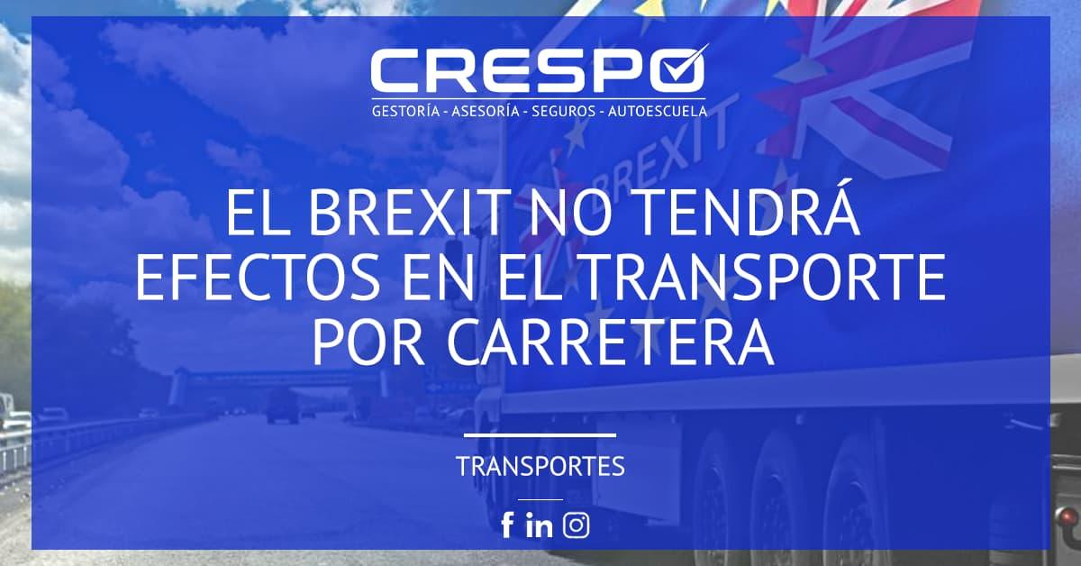 El Brexit no tendrá efectos en el transporte por carretera