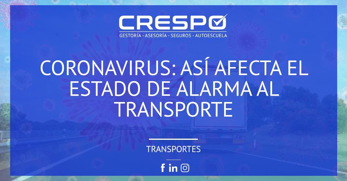 Coronavirus: así afecta el estado de alarma al transporte