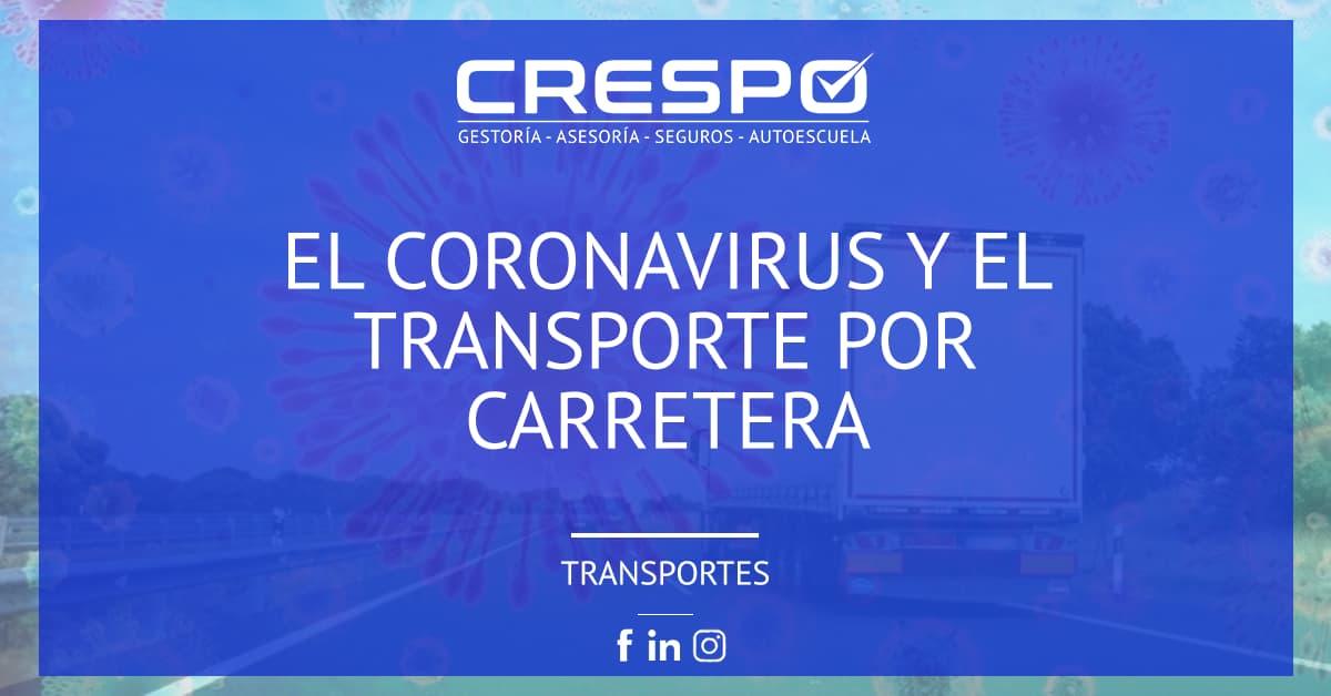 El coronavirus y el transporte por carretera
