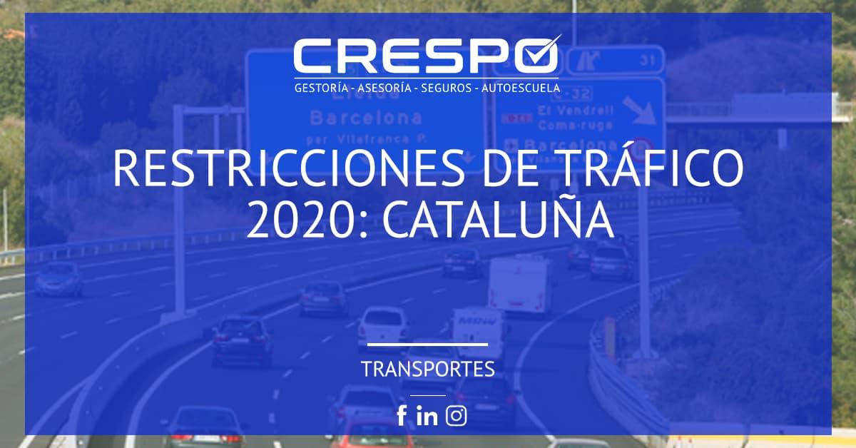 Restricciones de circulación Cataluña