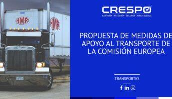 Propuesta de medidas de apoyo al transporte de la Comisión Europea