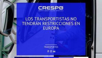 Los transportistas no tendrán restricciones de circulación en Europa