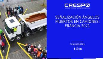 Señalización ángulos muertos en camiones: Francia 2021