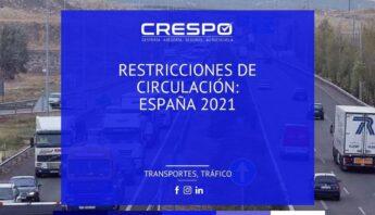 Restricciones de circulación España 2021
