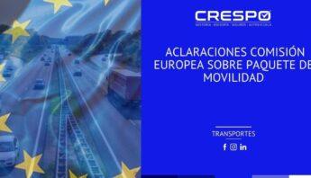 Aclaración de la Comisión Europea del Paquete de Movilidad