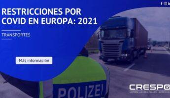 Restricciones por COVID en Europa: 2021